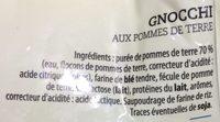 Gnocchi aux pommes de terre - Ingrédients - fr
