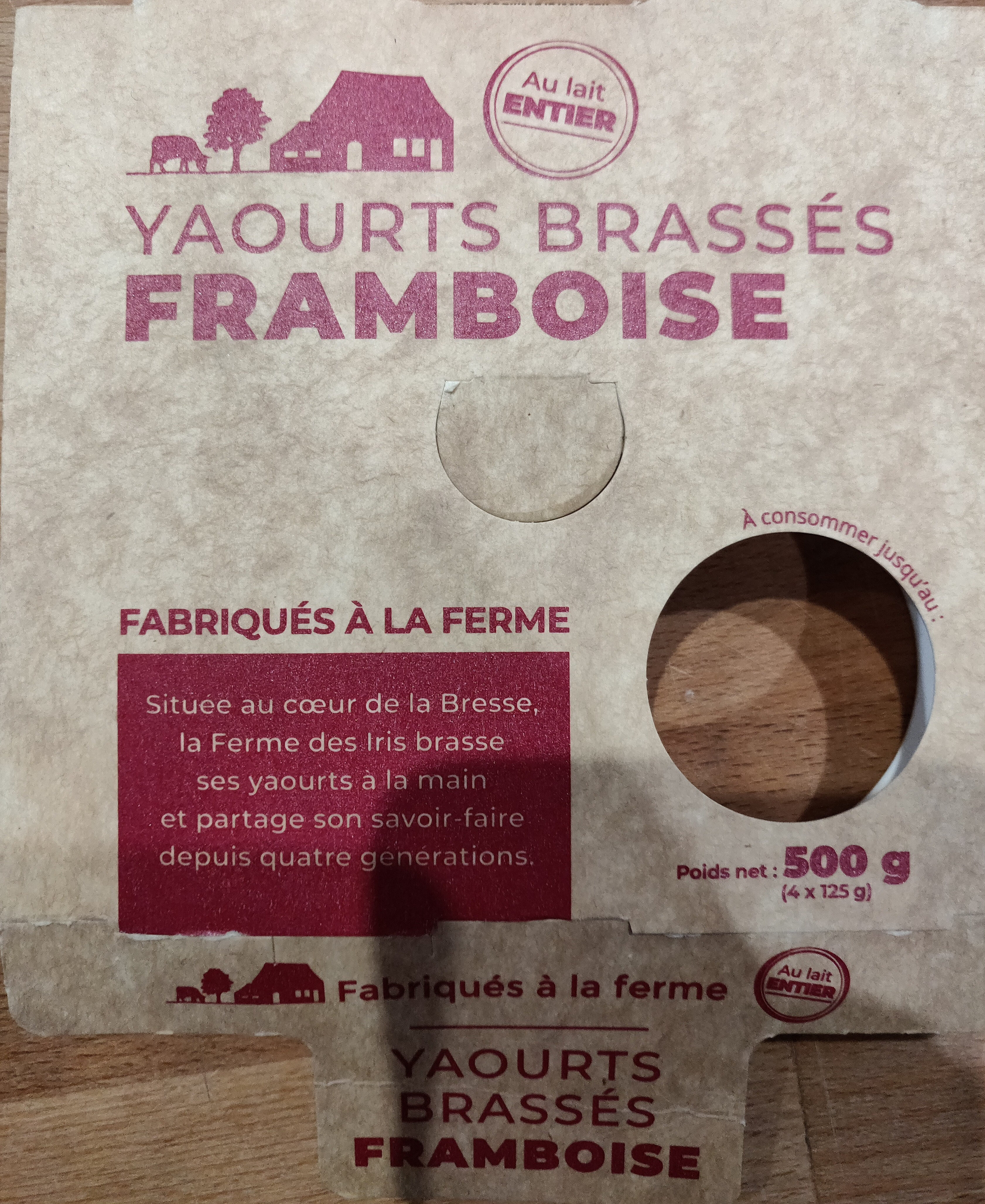 Yaourts brassés framboise - Product - fr