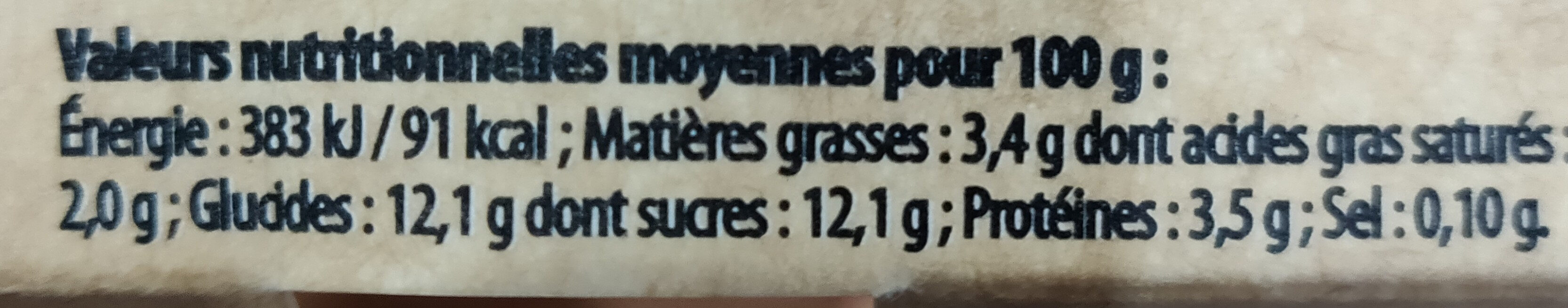 Yaourts brassés framboise - Nutrition facts - fr