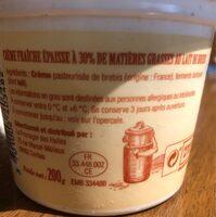 Creme fraiche au lait de brebis - Ingredients