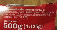 Yaourt brassé sur lit de framboises - Nutrition facts