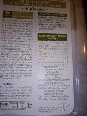 ravioles - Ingredienti - fr