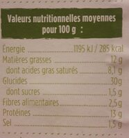 ravioles - Valori nutrizionali - fr