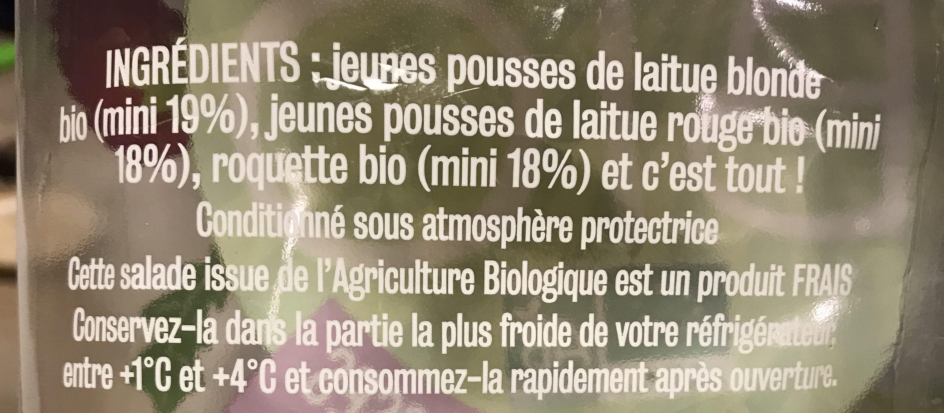 Jeunes Pousses - Ingrediënten