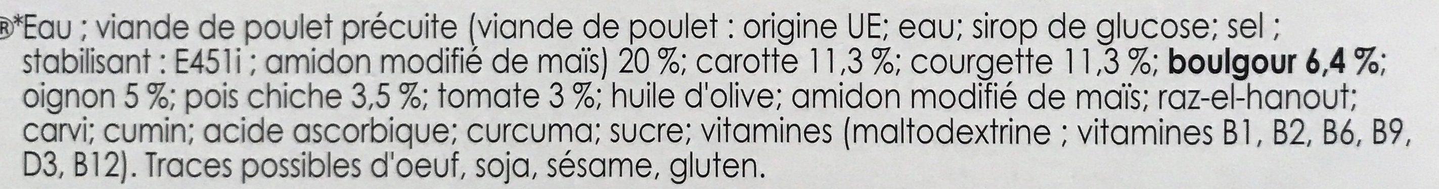 Couscous de Boulgour - Ingredients - fr