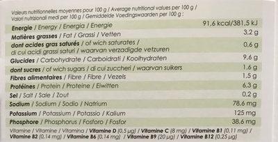 Couscous de Boulgour - Nutrition facts - fr