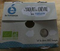 Yaourt de chèvre bio nature - Product - fr