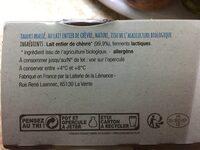 Yaourt de chèvre bio nature - Ingredients - fr