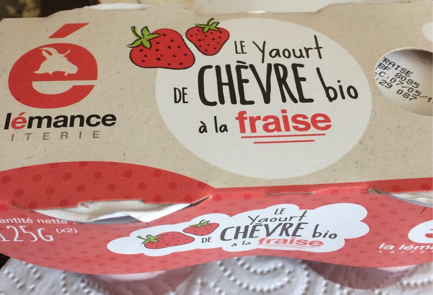 Yaourt de chevre bio a la fraise - Product - fr