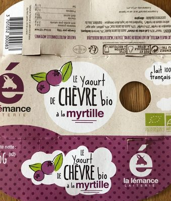 Yaourt chevre myrtille - Product - fr