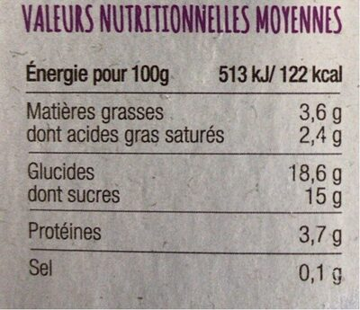 Yaourt chevre myrtille - Nutrition facts - fr