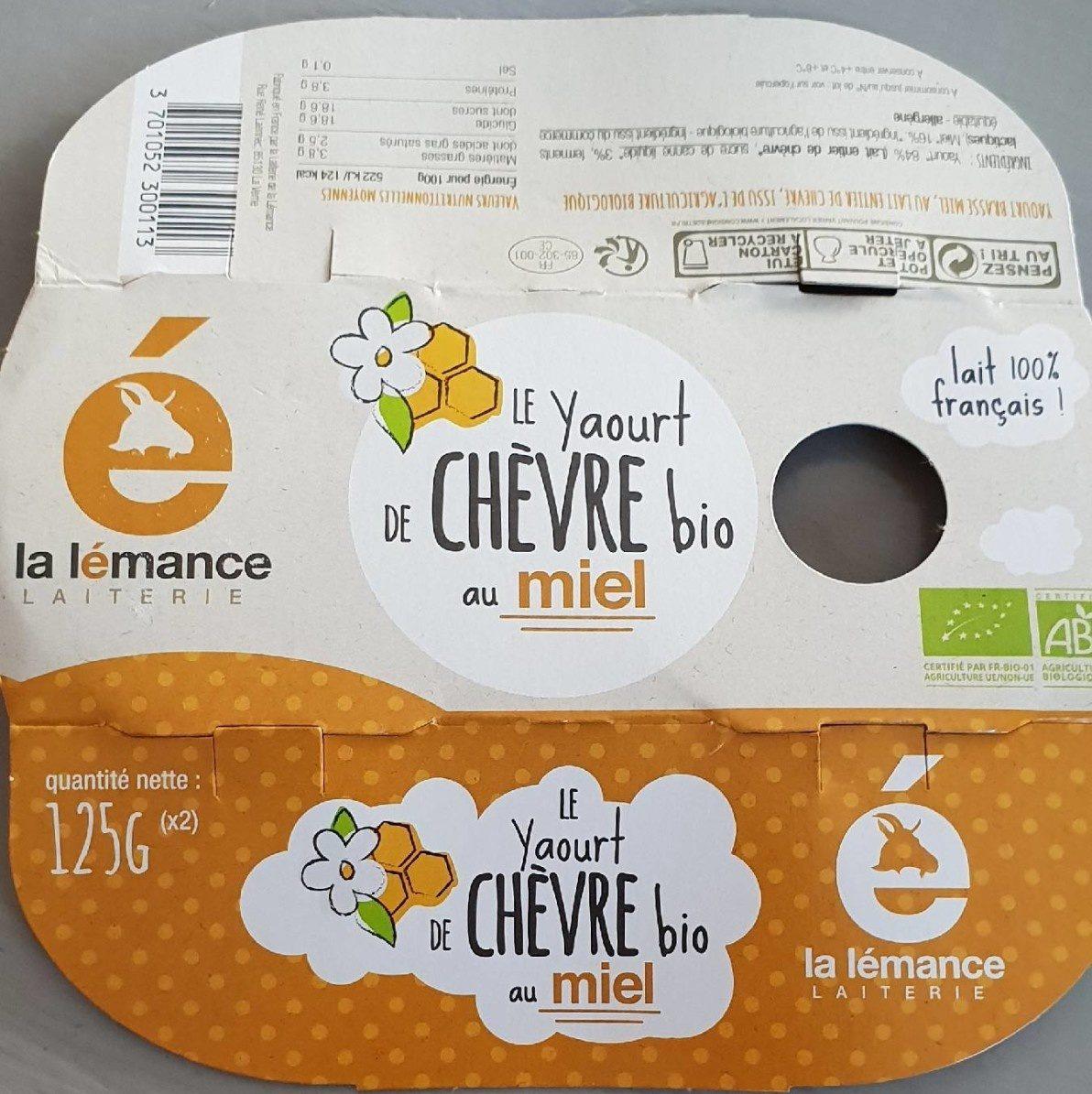 Le yaourt de chèvre bio au miel - Product - fr
