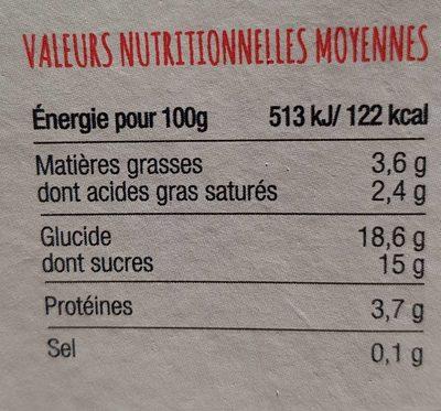 Yaourt de Chèvre - Voedingswaarden - fr