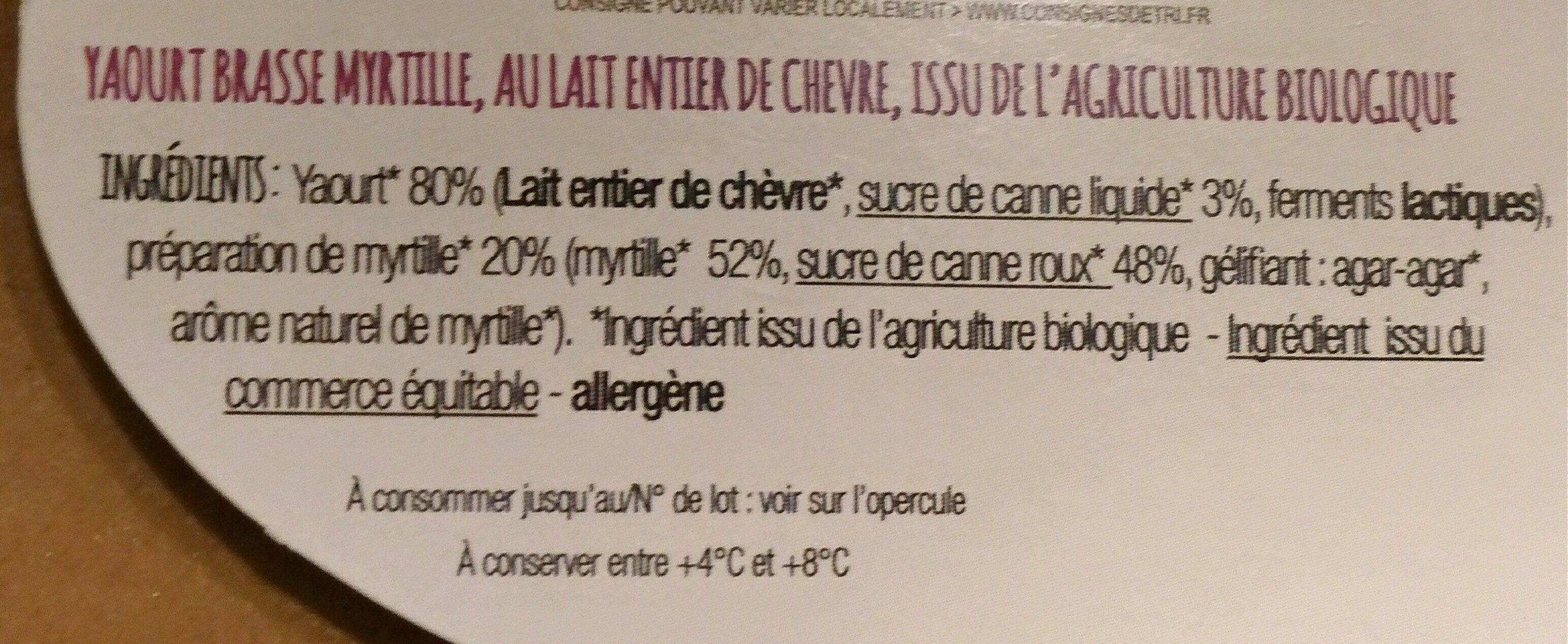 Chèvre brassé - Ingrediënten - fr