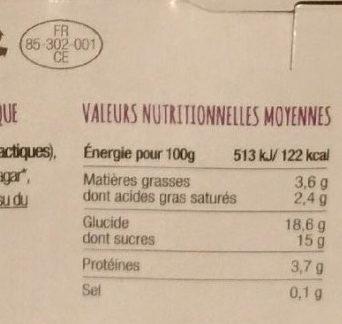 Chèvre brassé - Voedingswaarden