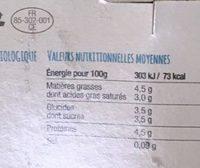 Yaourt de chevre - Voedingswaarden - fr