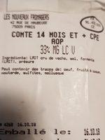 Comté - Ingrediënten - fr