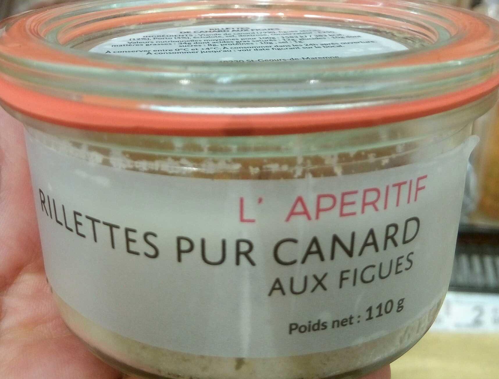 Rillettes pur canard aux figues - Produit