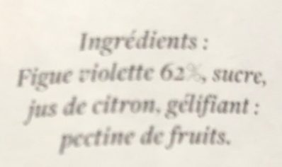 Confiture figue violette - Ingredients - fr
