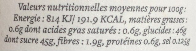 Confiture figue violette - Nutrition facts - fr