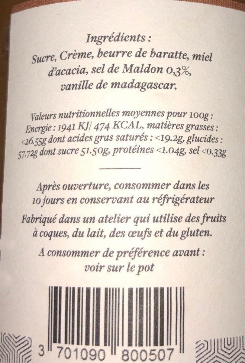 Caramel au beurre salé - Ingrediënten
