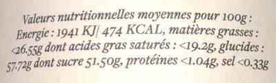 Caramel au beurre salé - Voedingswaarden