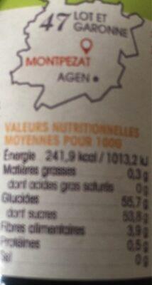 Mes 6 œufs biologiques de poules élevées en plein air - Nutrition facts - fr
