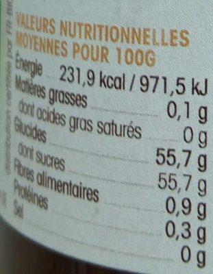 Ma confiture de fraises à l'ancienne - Informations nutritionnelles - fr