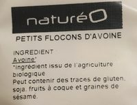 Mes Petits flocons d'avoine bio - Ingredients - fr