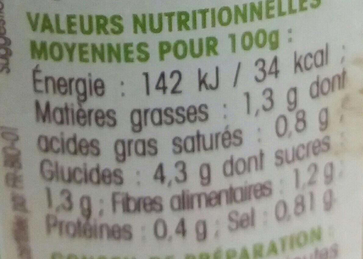Ma Soupe bio poireaux pommes de terre - Nutrition facts