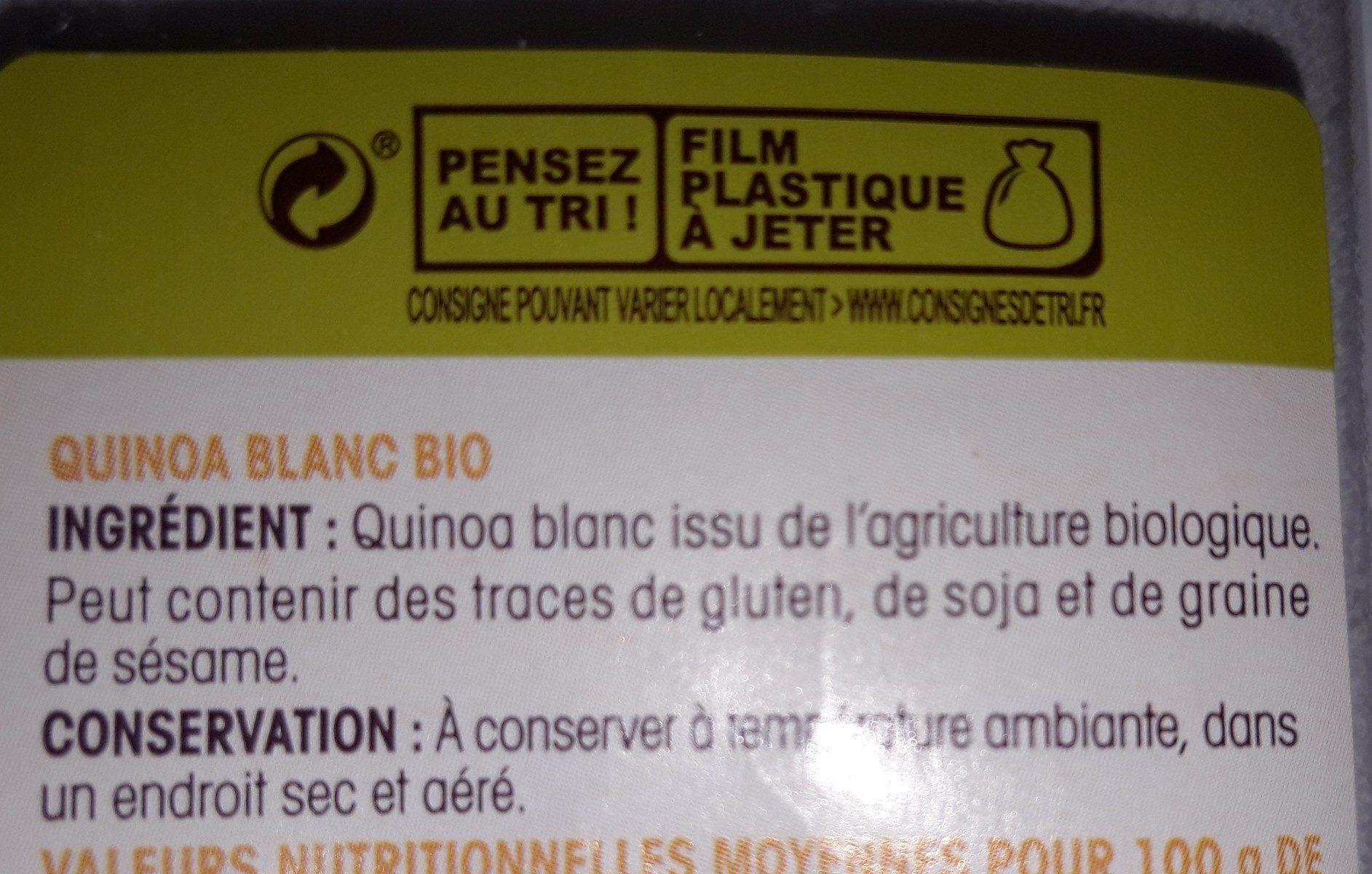 Quinoa blanc bio - Ingredienti - fr
