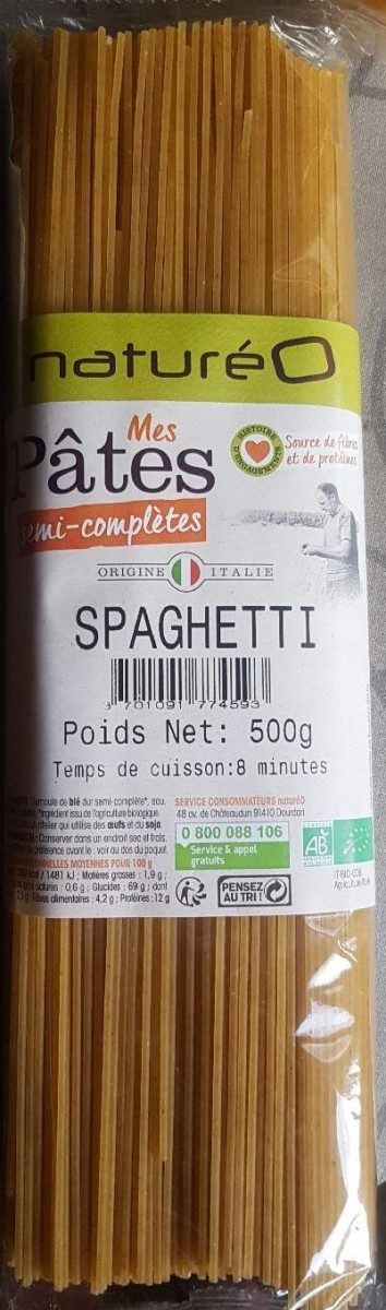 Pâtes semis complètes spaghettis - Product - fr