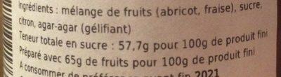 Confiture artisanale abricot fraise - Ingrédients