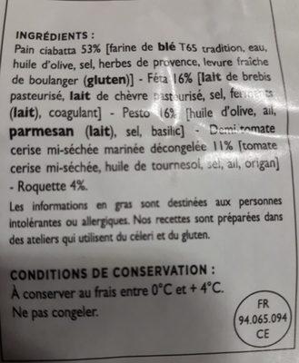 Sandwich - Ingredients - fr