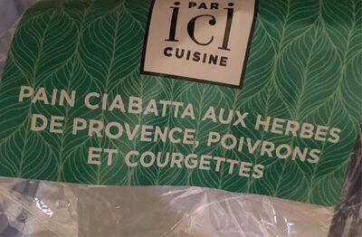 Pain ciabatta aux herbes de provence, poivrons et courgettes - Product - fr