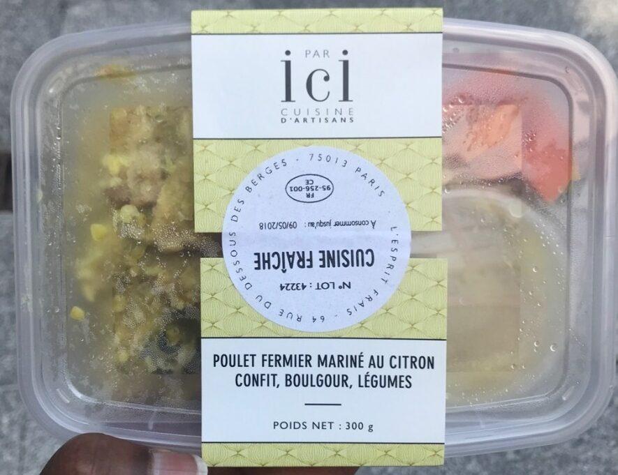 Poulet fermier mariné au citron confit, boulgour,legumes - Product - fr