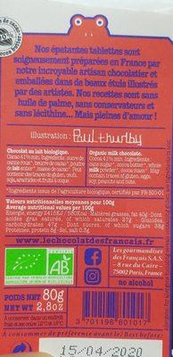 le chocolat des francais - Ingrediënten
