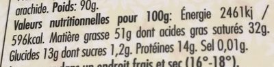 Vénézuela pur noir 100% - Nutrition facts