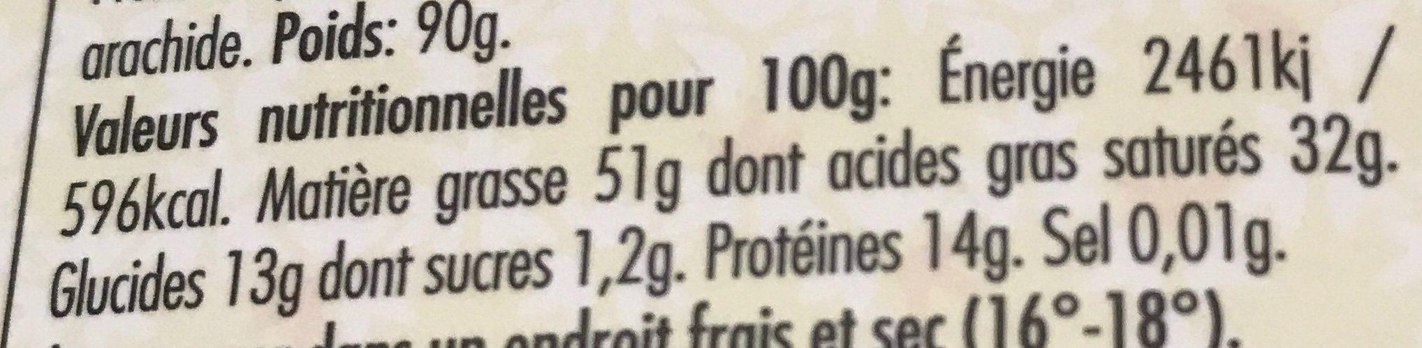 Vénézuela pur noir 100% - Nutrition facts