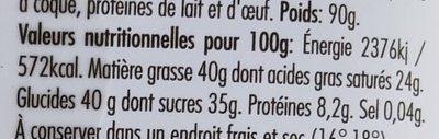 Caraibe doux Noir 66% - Nutrition facts - fr