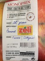 Pomme ZÉLI - Ingredients - fr