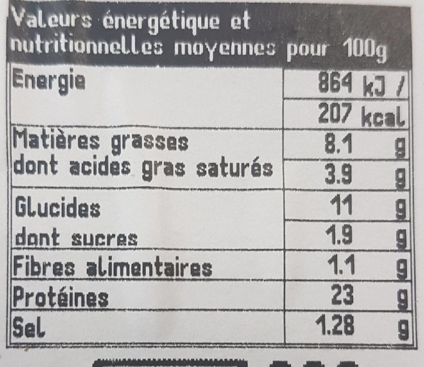 Boeuf Bourguignon Tagliatelles - Voedingswaarden - fr