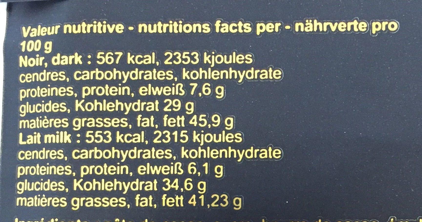 Ile Sao Tomé 67% - Informations nutritionnelles