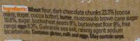 Cookie fin croust sarrasin chocolat noir 140g - Ingredienti - fr