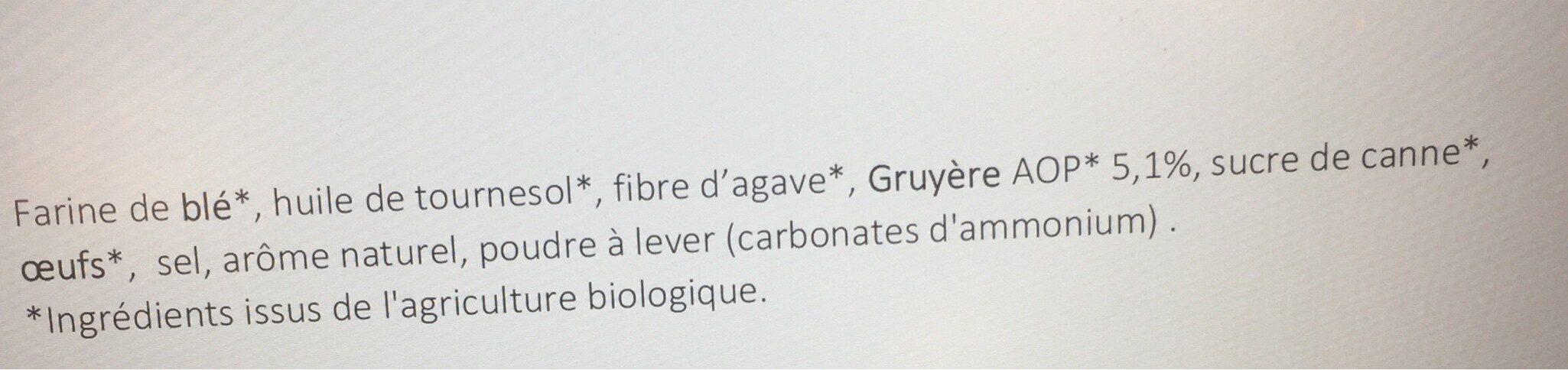 Test tortillon gruyere - Ingredients - fr