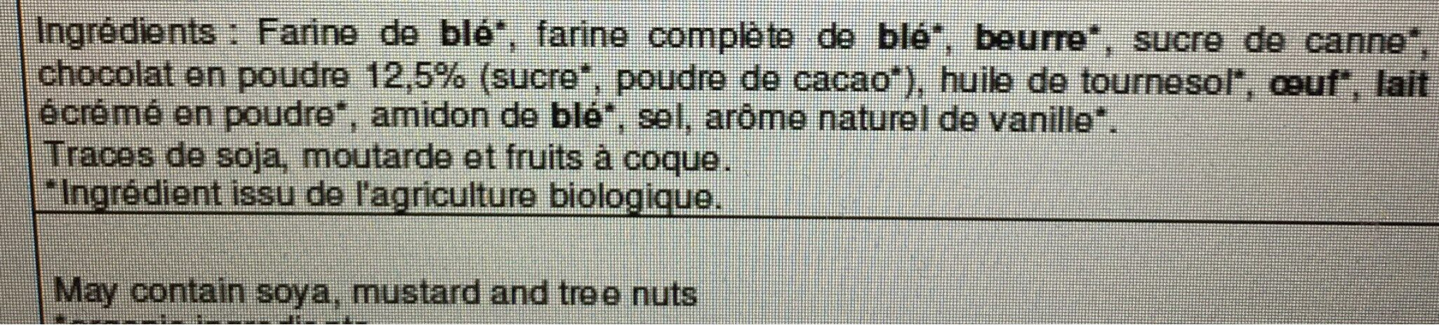 Essai chocolat - Ingredients - fr