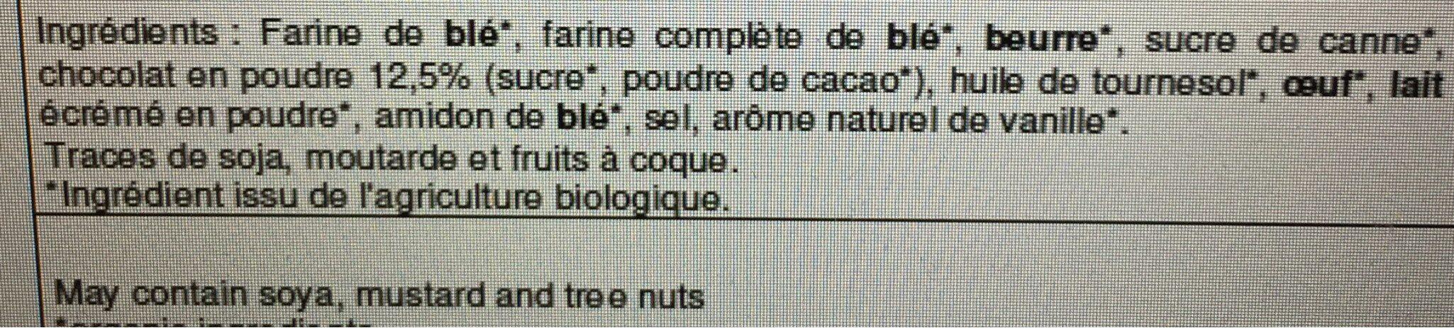 Essai chocolat - Ingrédients - fr