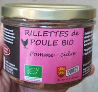 Rillettes de poule bio Pomme-cidre - Product