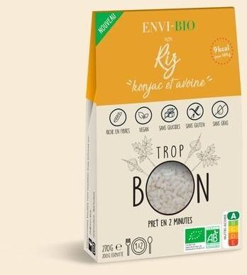 Riz de konjac et fibre d'avoine - ENVI-BIO - 270g - Prodotto - fr