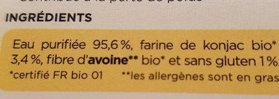 Riz de konjac et fibre d'avoine - ENVI-BIO - 270g - Ingredienti - fr